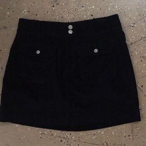 Adorable black velvet mini skirt